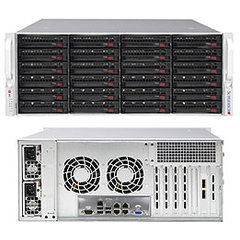 "SUPERMICRO 4U chassis 24x 3,5"" HS SAS/SATA (Dual expan. SAS3/12Gb - 8x8643)+2x2,5"" volitelný ,2x1280W (80PLUS Platinum)"
