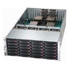 "SUPERMICRO 4U chassis 24x 3,5"" HS SAS/SATA (expander SAS2/6Gb - 1 SFF 8087) ,2x1620W (80PLUS Platinum 94%)"