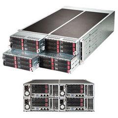 """SUPERMICRO 4U FatTwin server 4x(2xLGA2011-3), iC612, 4x(16x DDR4 ER), 6+2x(2xSATA3 HS 3,5""""), 4x 1280W, 2x1GbE,IPMI"""