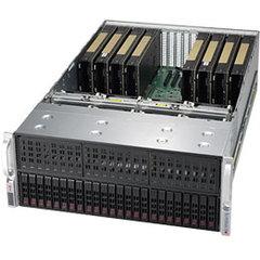 "SUPERMICRO 4U GPU server 2xLGA-3647, C622, 24x DDR4 ER, 24x HS (2,5""), 10x GPU ready, 2+2 2000W, 2x10Gb BaseT,IPMI"