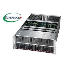 "SUPERMICRO 4U GPU server 2xLGA2011-3, C612, 24x DDR4 ER, 24x HS (2,5""), 8x GPU ready, 2+2 1600W, 2x1Gb BaseT,IPMI"