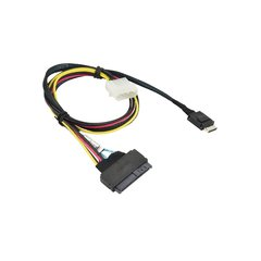 Supermicro OCuLink (Host) to U.2 PCIe (Target) 55cm with Power Cable - CBL-SAST-0956