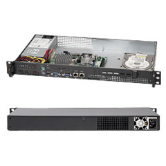 SUPERMICRO chassis mini1U, 1x fixed HDD, 200W for Atom based MB - přední I/O porty