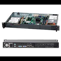 """Supermicro CSE-502L-200B mini1U 9,6""""x9,6"""" 35W cpu, 1HDD, 200W, černé"""
