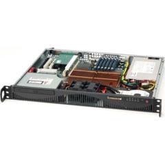 Supermicro CSE-512F-520 mini1U ATX, HDD, 520W(24p), noCD, černé