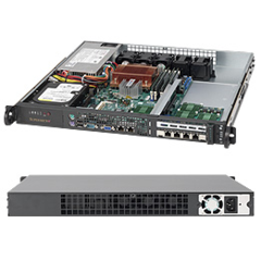 Supermicro CSE-515-280UB, mini 1U,1x fixed HDD, 280W