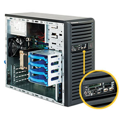 SUPERMICRO CSE-731I-300B, MiniTower, 300W, 4xSATA