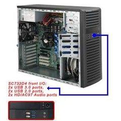 Supermicro CSE-732D4-903B, mid-tower, černá