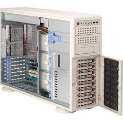 "Supermicro CSE-745S2-R800, 4U/tower, 8SCSI 2channel, 3x5,25"", rPS 800W"