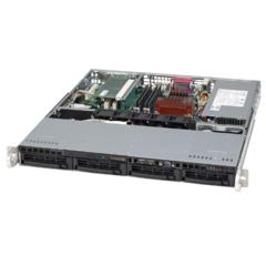 Supermicro CSE-813MS-410CB, 1U ATX, 4SCSI, slimCD, FD, 410W 48V DC, černá