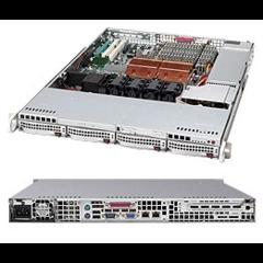 """Supermicro CSE-815TQ-R650UB, 1U, 4x 3,5"""" SAS/SATA, 2x650W, UIO, black"""