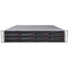 Supermicro CSE-826E1-R800LPB 2U eATX13, 12sATA/SAS, 28port, 7LP, černé
