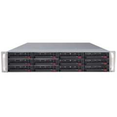 Supermicro CSE-826E2-R800LPB 2U eATX, 12sATA/SAS, 2x28port, noCD, černé