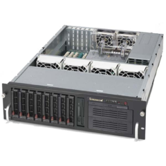 "Supermicro CSE-833S-R760B, 3U eATX13, 8SCSI, 2x5,25"", slimCD, 760W, black"