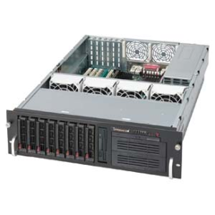 Supermicro CSE-833T-R760B, 3U chassis 8xSAS/SATA,3x380W(760W+380W),FDD