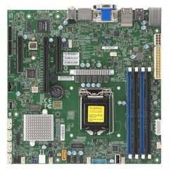 SUPERMICRO MB 1xLGA1151 (Xeon E3-21xx,i3), C246,4xDDR4,5xSATA3,M.2,3xPCIe3.0 (x16/2 x4),2xDP,DVI,VGA,Audio,2x LAN,IPMI