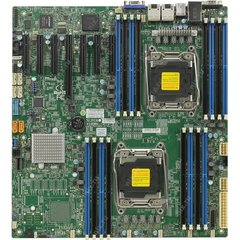 SUPERMICRO MB 2xLGA2011-3, iC612 16x DDR4 ECC R,10xSATA3 (PCI-E 3.0/2,4,1(x16,x8,x4),2x 1GbE LAN,IPMI