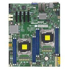 SUPERMICRO MB 2xLGA2011-3, iC612 8x DDR4 ECC,10xSATA3,(PCI-E 3.0 4x (x8),2x10GbE SFP+,2x NVMe,IPMI