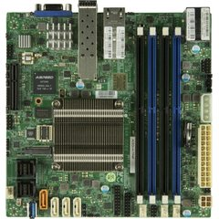 SUPERMICRO mini-ITX MB Atom C3758 (4-core), 4x DDR4 ECC DIMM, 12xSATA, 1x PCI-E 3.0 x4, 4x 1GbE LAN, IPMI