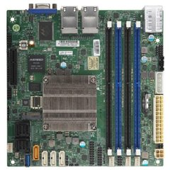 SUPERMICRO mini-ITX MB Atom C3758 (8-core), 4x DDR4 ECC DIMM, 12xSATA, 1x PCI-E 3.0 x4, 4x 1GbE LAN, IPMI