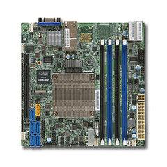 SUPERMICRO mini-ITX MB Xeon D-1520/1521 (4-core), 4x DDR4 ECC DIMM,6xSATA1x PCI-E 3.0 x16, 2x10GbE LAN,IPMI