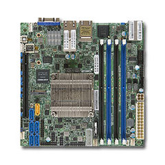 SUPERMICRO mini-ITX MB Xeon D-1557 (12-core), 4x DDR4 ECC DIMM,6xSATA1x PCI-E 3.0 x16, 2x10Gb SFP+, 2x 1Gb LAN,IPMI