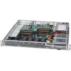 "SUPERMICRO mini1U chassis, 1x 3,5"" fixed HDD (nebo s MCP-220-00044-0N 2x2,5""), 500W (Platinum)"
