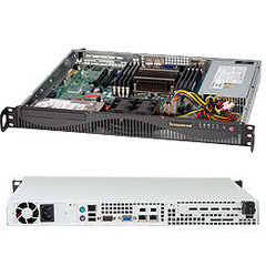 "SUPERMICRO mini1U chassis, 2x 3,5"" fixed HDD (nebo s MCP-220-00044-0N 2x2,5""), 440W (Platinum)"