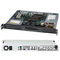 "SUPERMICRO mini1U chassis, 2x 3,5"" fixed HDD (nebo s MCP-220-00044-0N 2x2,5""), mechanika volitelná (slim), 350W (80PLUS Gold)"