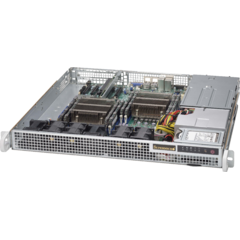 "SUPERMICRO mini1U chassis 2x internal Drive Bays 2,5"", 2x400W (Gold)"