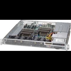 "SUPERMICRO mini1U chassis 2x internal Drive Bays 2,5"", 2x400W (Gold)"
