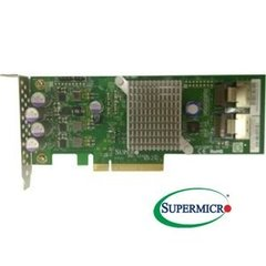 SUPERMICRO STD Gen-3 PCI-e at 8Gb/s,6Gb/s SAS,8 internal ports,low profile, RAID 0, 1, 10