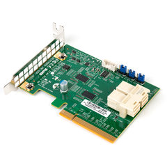 SUPERMICRO Supermicro add on card Low Profile 6.4Gb/s Dual-Port Gen 3 NVMe Internal Host Bus Adapter