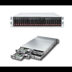 """Supermicro SYS-2026TT-HTRF, 2U twin HSx2 server s1366 i5520,DDR3 ER,6x4 SATA 2,5"""" HS,1400W"""