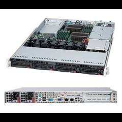Supermicro SYS-6016T-NTRF, 1U 2S1366@QPT6.4,2GbE,4SAS,IPMI,12DDR3,PCI-E16,PCI-E8,rPS,stříbrný