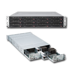 Supermicro SYS-6026TT-HDTRF, 2U TWIN server 2x1366, i5500, DDR3 ER,2x1400W
