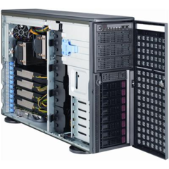 "SUPERMICRO Tower/4U 8x 3,5"" HS SAS/SATA, 4x power connectors (6pin+8pin) pro GPUs, 2x1620W (80PLUS Gold)"