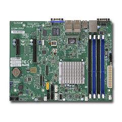 SUPERMICRO uATX MB Atom C2558 4-core (14W TDP), 4x DDR3 ECC, 2xSATA3, 4xSATA2, (1,1 x PCI-E x8,x4), 4xLAN, IPMI