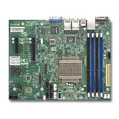 SUPERMICRO uATX MB Atom C2758 8-core (20W TDP), 4x DDR3 ECC, 2xSATA3, 4xSATA2, (1,1 x PCI-E x8,x4), 4xLAN, IPMI