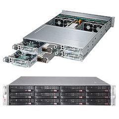 """UPERMICRO 2U TWIN2 server 4x(2xLGA2011-3), iC612, 4x(16x DDR4 ER), 4x(3x SATA HS 3,5""""), 2x 2000W, IP"""
