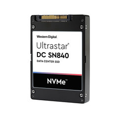 """WD/HGST Ultrastar SN840 1.6TB 15mm NVMe U.2 2.5"""" 3DWPD ISE, 0TS2045 - WUS4C6416DSP3X3"""